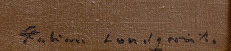 Fabian lundqvist, olja på duk, signerad.