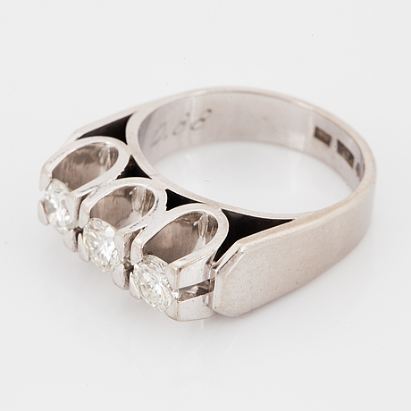 A brilliant cut diamond ring by hellström & åhrling, stockholm, 1965.