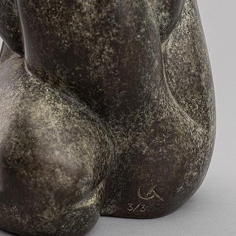 Unknown artist 20th century. sculpture.  bronze. signed with monogram ct. ed 3/3.