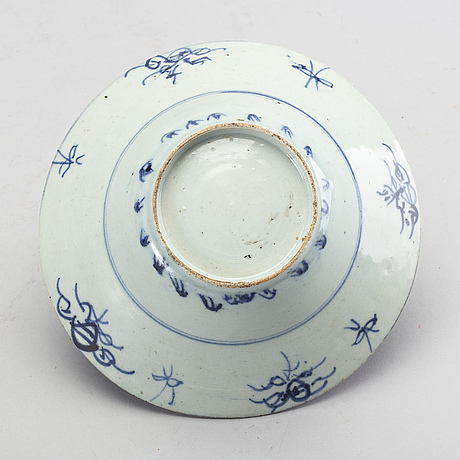 A blue and white bowl, china, for the south east asian market, late 19th century.