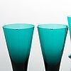 Nanny still, tillbringare med glas, 6 st, t/335, riihimäki glasbruk, 1950/60-tal.