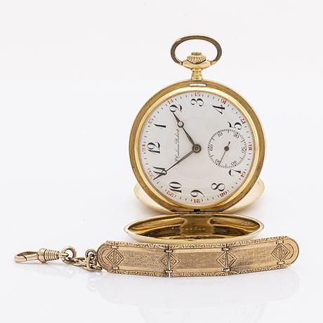 J calame robert, pocket watch, mid 20th century, ca 51 mm.