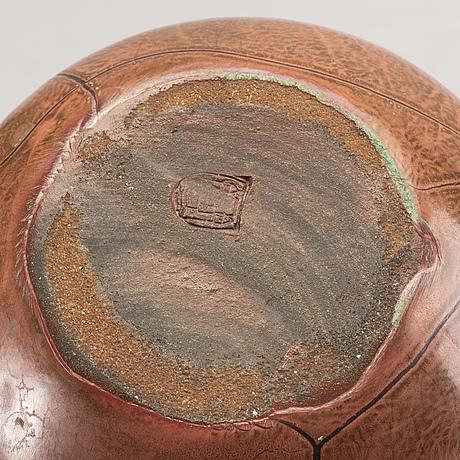 Richard uhlemeyer vaser 3 + 1 st signerade  stengods 1900-talets mitt.