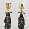 A pair of louis xvi 18/19 century candlesticks.