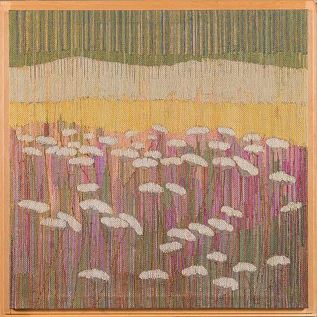 Viena mertasalmi, tapestry, signed viena mertsalmi 1998.