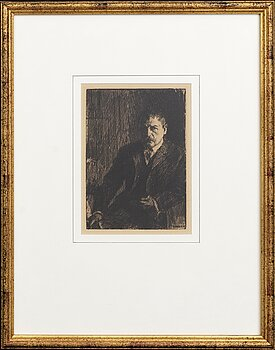 Anders Zorn, a unsigned etching from 1904.