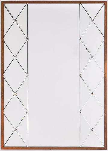 Spegel, ab glas & trä, hovmantorp 1900-talets mitt.