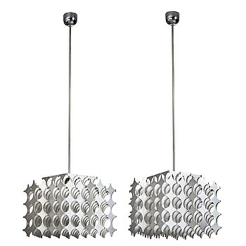 """3. Mario Marenco, a pair of """"Cynthia"""" ceiling lamps, for Artemide, Italy 1968."""