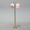 Einar bäckstöm, a brass floor light, second half of the 20th century.