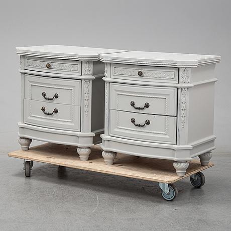 Sängbord, ett par, 1900-talets andra hälft.