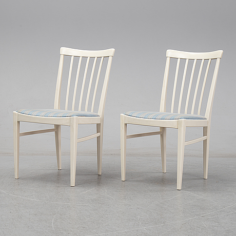 Six 'herrgården' chairs by carl malmsten for bodafors.
