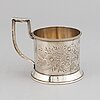 A russian silver teaglass holder, mark of paul fredrik sohlman, s:t petersburg 1885.