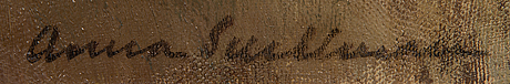 Anna snellman, olja på duk, signerad.