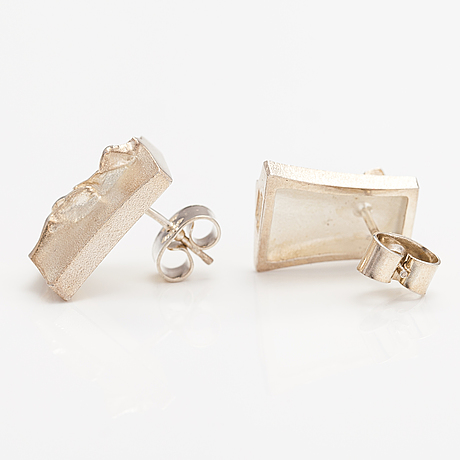 Björn weckström, a pair of sterling silver earrings. lapponia.
