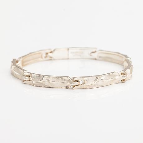 Björn weckström, a sterling silver bracelet. lapponia 2002.