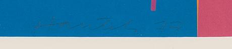 Jorma hautala, serigrafia, signeerattu ja päivätty -77, merkitty e.a.