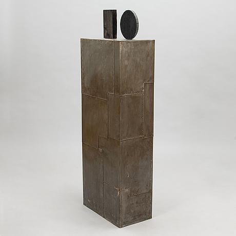 Pauno antero pohjolainen, sculpture, wood and sheet metal.
