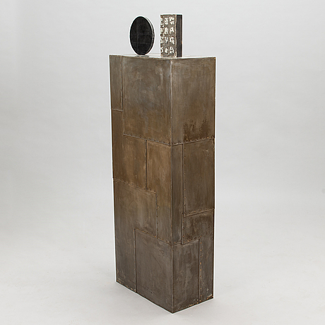 Pauno antero pohjolainen, sculpture, wood and sheet metal.