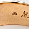 A 14k gold ring with a ca. 0.96 ct old-cut diamonds according to engraving. marskis.
