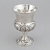 An english 19th century silver cup, unidentified makers mark, london 1835.