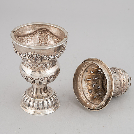 A danish 18th century silver sugar-caster, marked copenhagen 1781.