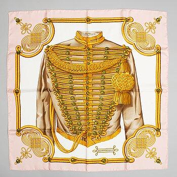 Hermès, a 'Brandebourgs' silk scarf.