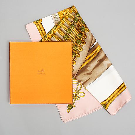 """Hermès, scarf, """"brandebourgs""""."""