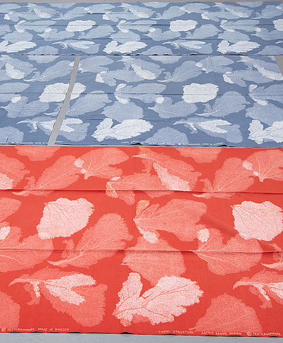 Astrid sampe, three cotton 'coral structure' fabrics from  nk:s textilkammare. (4).