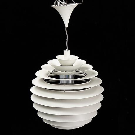 Poul henningsen, a 'ph globe/louvre' pendant light, louis poulsen, denmark.
