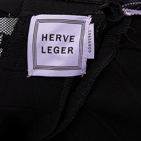 Hervé leger, a black dress, circa size 36.