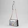 Christian dior, a 'diorama' metallic leather handbag.