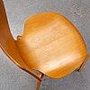 Arne jacobsen, a 'grand prix'  beech chairs, fritz hansen, denmark, 1950's.