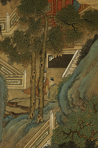 Tang yin, copy after, ink and scolour on silk. qing dynasty, late 19th/early 20th century.