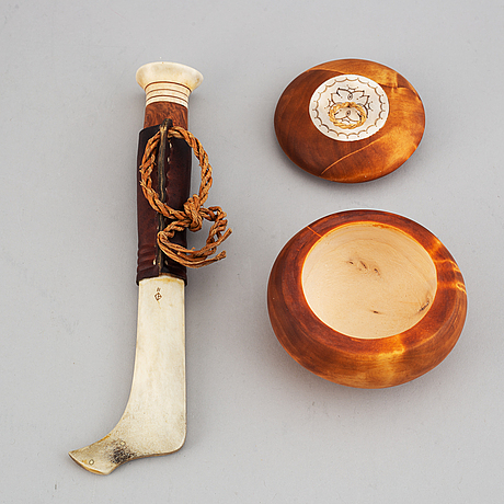 Samiskt hantverk, 2 delar, bland annat bill Öberg.