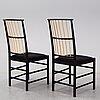 Josef frank, a pair of model 2025 chairs, svenskt tenn.