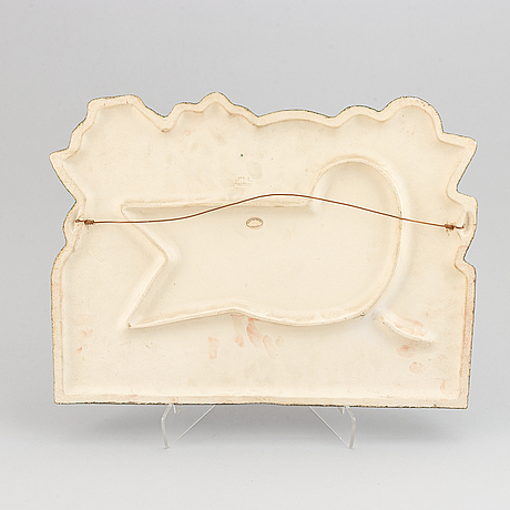 Lisa larson, a stoneware wall placquer, gustavsberg.