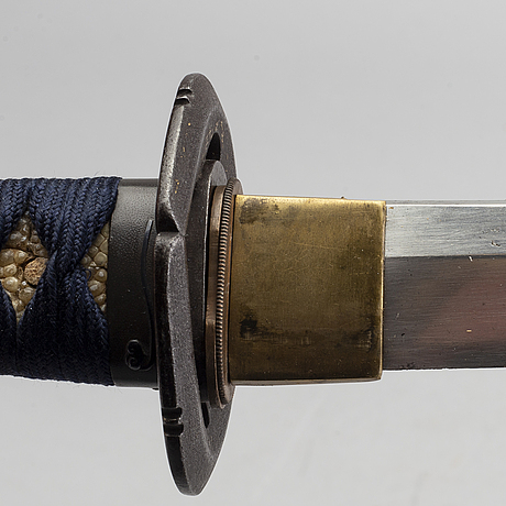 A japanese wakizashi late 19th century, signed.