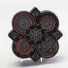 A japanese lacquer box later part of the 19th/early 20th century.