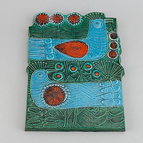 Lisa larson, a stoneware wallplate, gustavsberg.