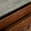 A gustavian style chest of drawers from the second half of the 20th century.
