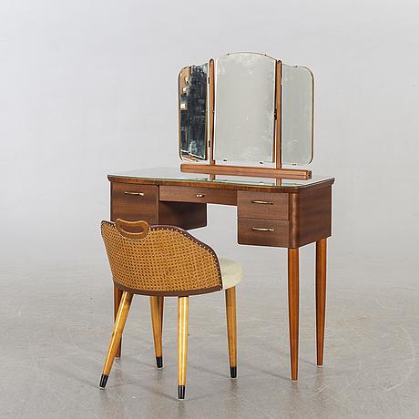 Sminkbord, fröseke, 1900-talets mitt.