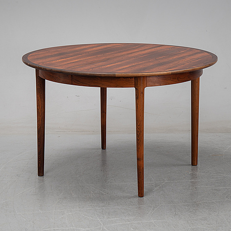 A seven-piece rosewood dining suite, 1960's/70's.