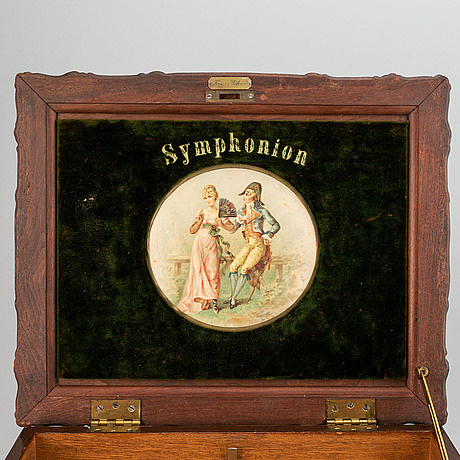 Symphonion, ca 1900. 33 records included.
