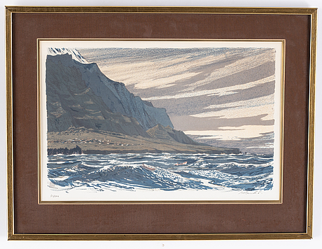 Roland svensson, lithograph in colours, signed 91/300.
