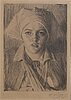 Anders zorn, a signed etching from 1918.