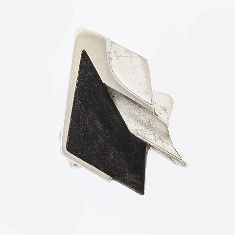 Zoltan popovits, lapponia ring silver and wood, lapponia finland 1985.