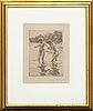 Anders zorn, a signed etching from 1910.