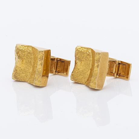 Lapponia cufflinks 18k gold, approx 1,5 cm.