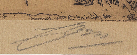 Anders zorn, etsning, 1895, signerad.