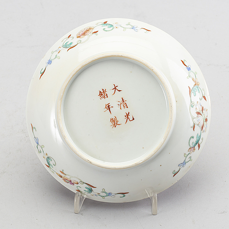 A dragon dish, china, presumably republic with guangxu mark.